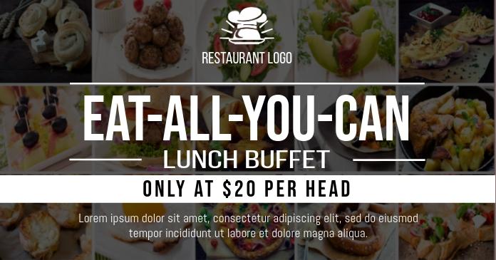 Eat All You Can Buffet Facebook Gedeelde Prent template