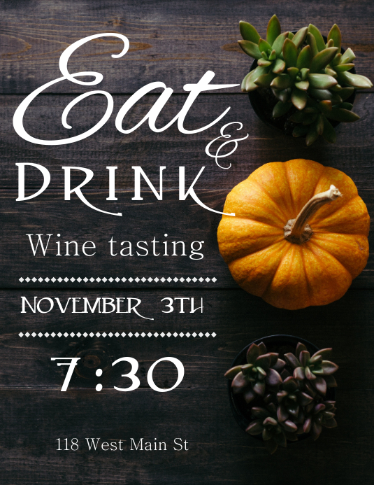 Eat and Drink Flyer