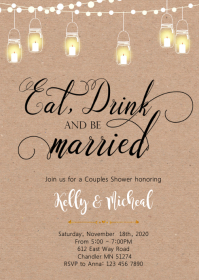 Eat drink and be married invitation