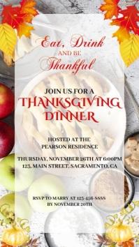 Eat drink and be thankful thanksgiving invita Status WhatsApp template