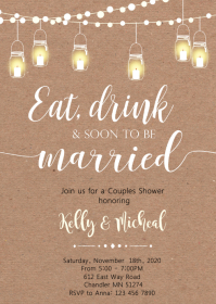 Eat drink and soon to be married invitation