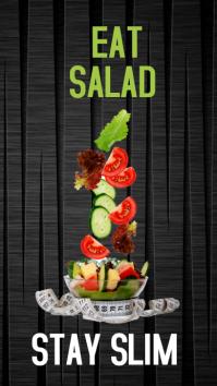Eat Salad Stay Slim Affichage numérique (9:16) template
