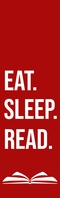 eat sleep read bookmark Halv side Legal template