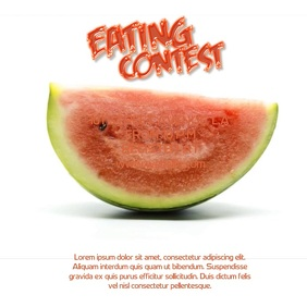 EATING COMPETITION FLYER