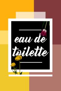 Eau de Toilette Poster template