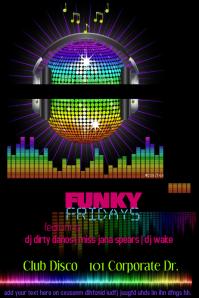 Disco Ball Night Club Event DJ Music Band Bar Venue Flyer
