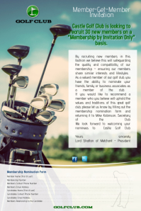 Memer get Member Golf Flyer