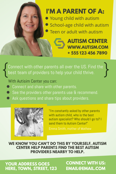 Autism Poster Template