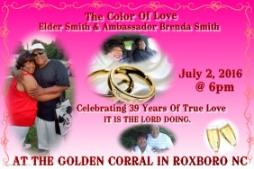 MARK THE DATE..THE REMNANT'S MARRIAGE MINISTRY (COUPLES NIGHT) THE COLOR OF LOVE with MA & POP LANE