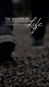 Ecclesiastes Sermon Series Title Digital Display (9:16) template