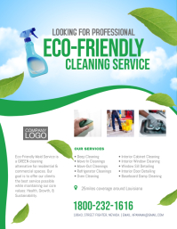 Eco Friendly Cleaning Service Flyer Poster