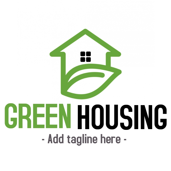 Eco-friendly real estates logo or icon
