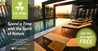 Eco Hotel Motel Spa Resort Facebook Ad template