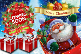 Santa Claus Coming Soon On Merry Christmas