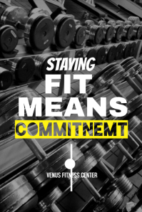 Gym Pinterest Post Template
