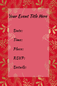 Holiday Winter Christmas Event Party Invite Flyer