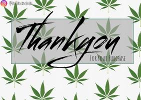 Edibles thank you card TJ Poskaart template