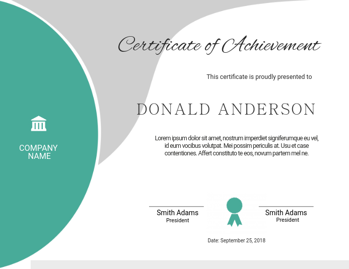 editable certificate template postermywall