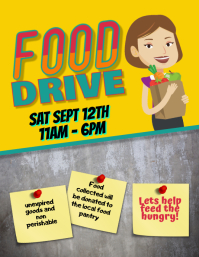 editable Food Drive Event Fundraiser Flyer template