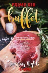 Editable Prime Rib Dinner flyer template