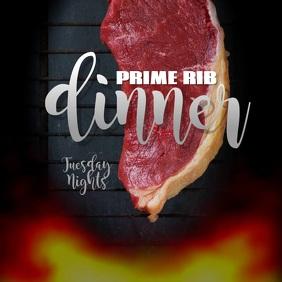 Editable Prime Rib Dinner instagram