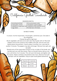 Editable Recipe Card with Bread