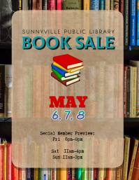 editable used book sale flyer template