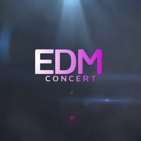 EDM ALBUM COVER LOGO SOCIAL MEDIA Logótipo template