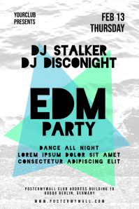 EDM Electro Party DJ Clean Poster
