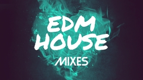 EDM House Mixes Youtube Thumbnail template