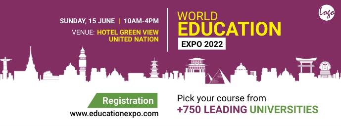 Education Expo Facebook Cover Facebook-omslagfoto template