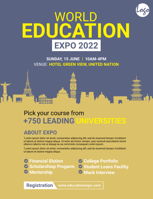 Education Expo Flyer template
