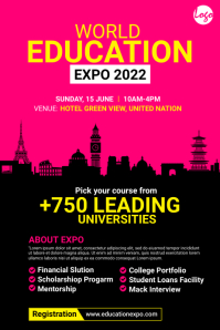 Education Expo Poster Póster template