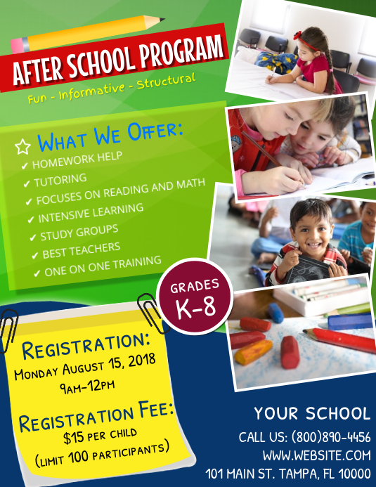 education flyer template postermywall