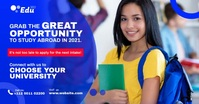 Educational Consultancy Ad Facebook Shared Image template