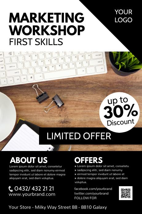 Educational Marketing Workshop Seminar Flyer
