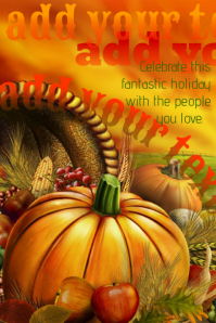 Thanksgiving Autumn Fall Halloween Event Flyer Ad