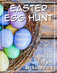 Egg Basket Easter Egg Hunt Flyer