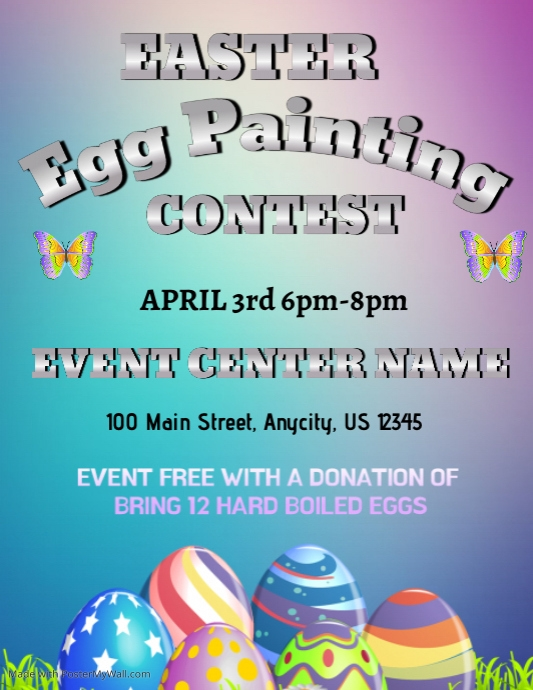 egg painting contest template