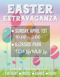 Egg Sticks Easter Extravaganza Flyer