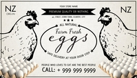 Eggs Service Business Card Template