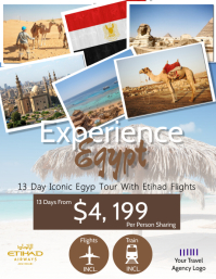 Egypt Tour Travel Flyer Template