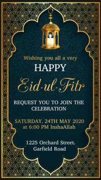 Eid, Eid mubarak, Ramadan, Ramadan Kareem Digital Display (9:16) template