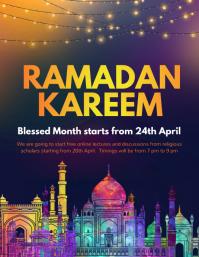 eid, eid mubarak, ramadan kareem, iftar Flyer (US Letter) template