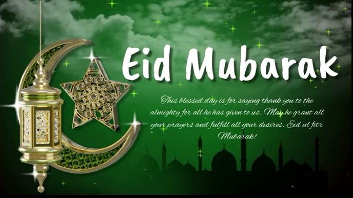 Eid, event,eid-ul-fitr 数字显示屏 (16:9) template