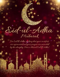 Eid, event,eid-ul-adha Folder (US Letter) template