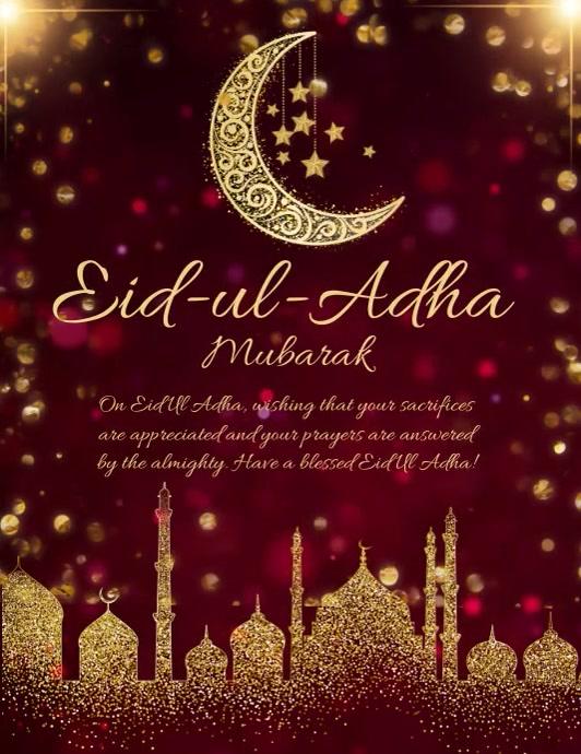 Eid, event,eid-ul-adha Pamflet (Letter AS) template
