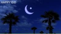 Eid, moon,eid ul fitir YouTube Thumbnail template