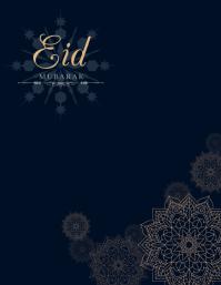 Eid, ramadan instagaram post Flyer (US Letter) template