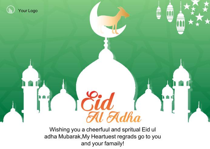 eid al adha celebration postcard 明信片 template